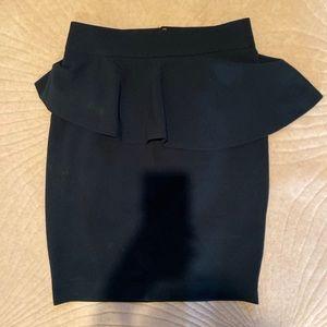 ZARA Army Green Peplum Skirt